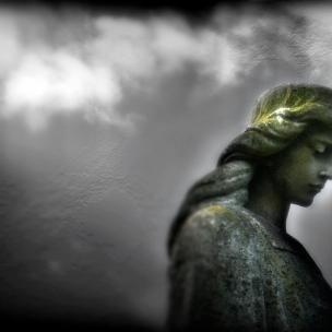 Graveside Statue